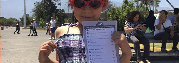 Niños votan