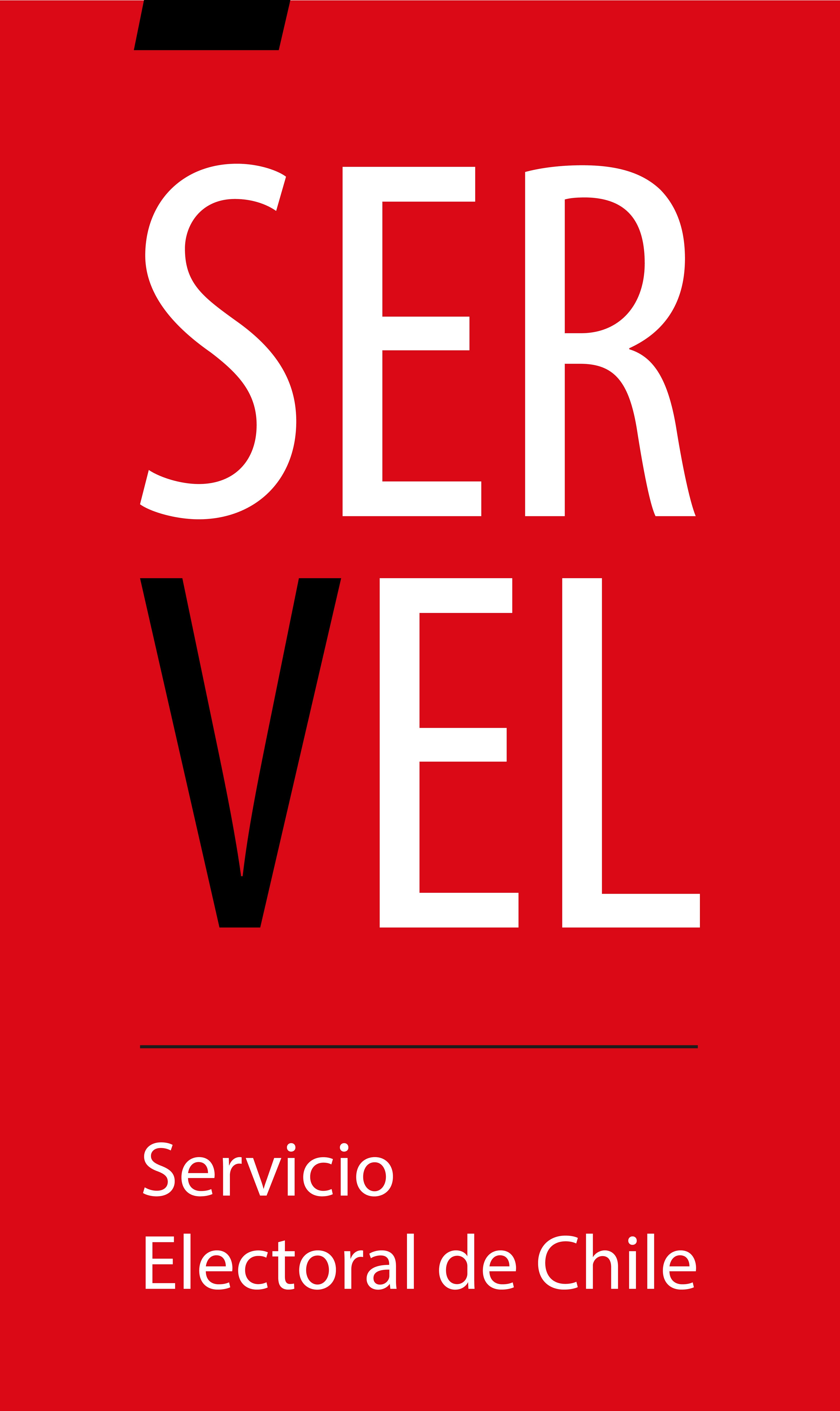 logo Servel_Logo fondo rojo
